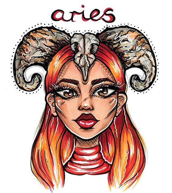 Aries-Hues of red