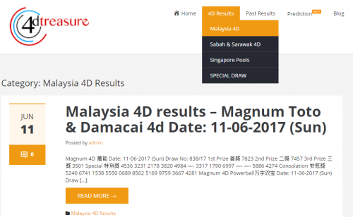 Where can you see 4D results in Malaysia via live stream? - 4D result